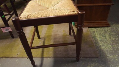 Foot Stools woven seat, plaid covers