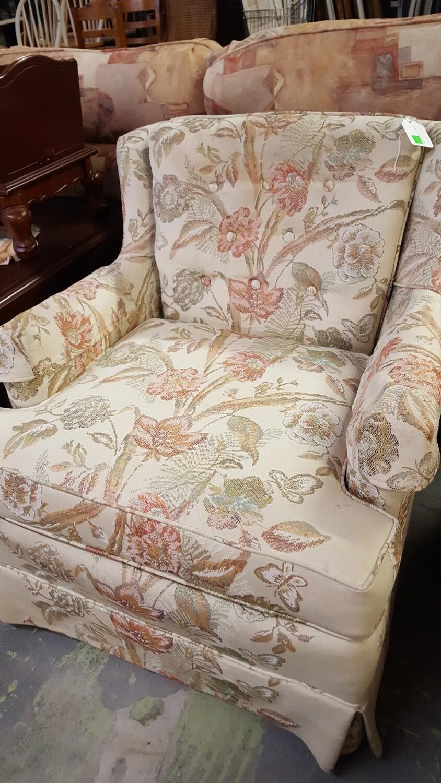 Floral Arm Chair (GR)