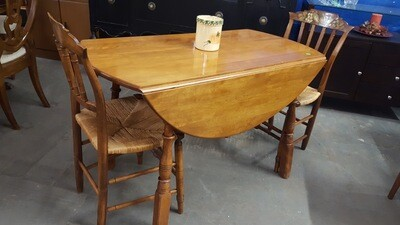 Vintage Maple Drop Leaf Table, 2 chairs