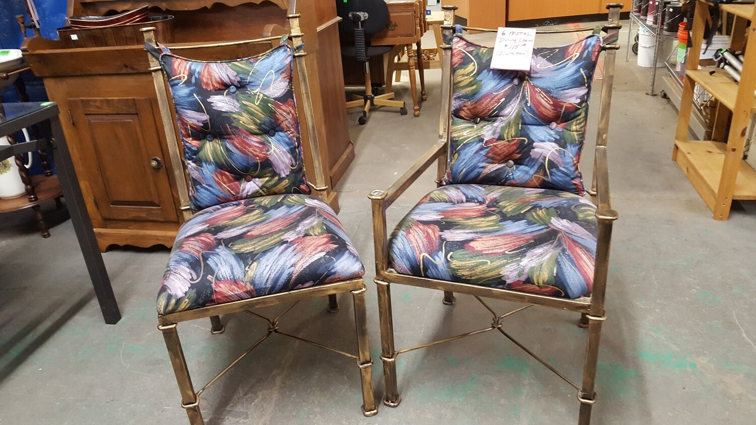 Set of 6 colorful Dining Chairs  (GR)