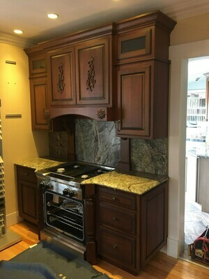 Cherry Kitchen Cabinets with granite