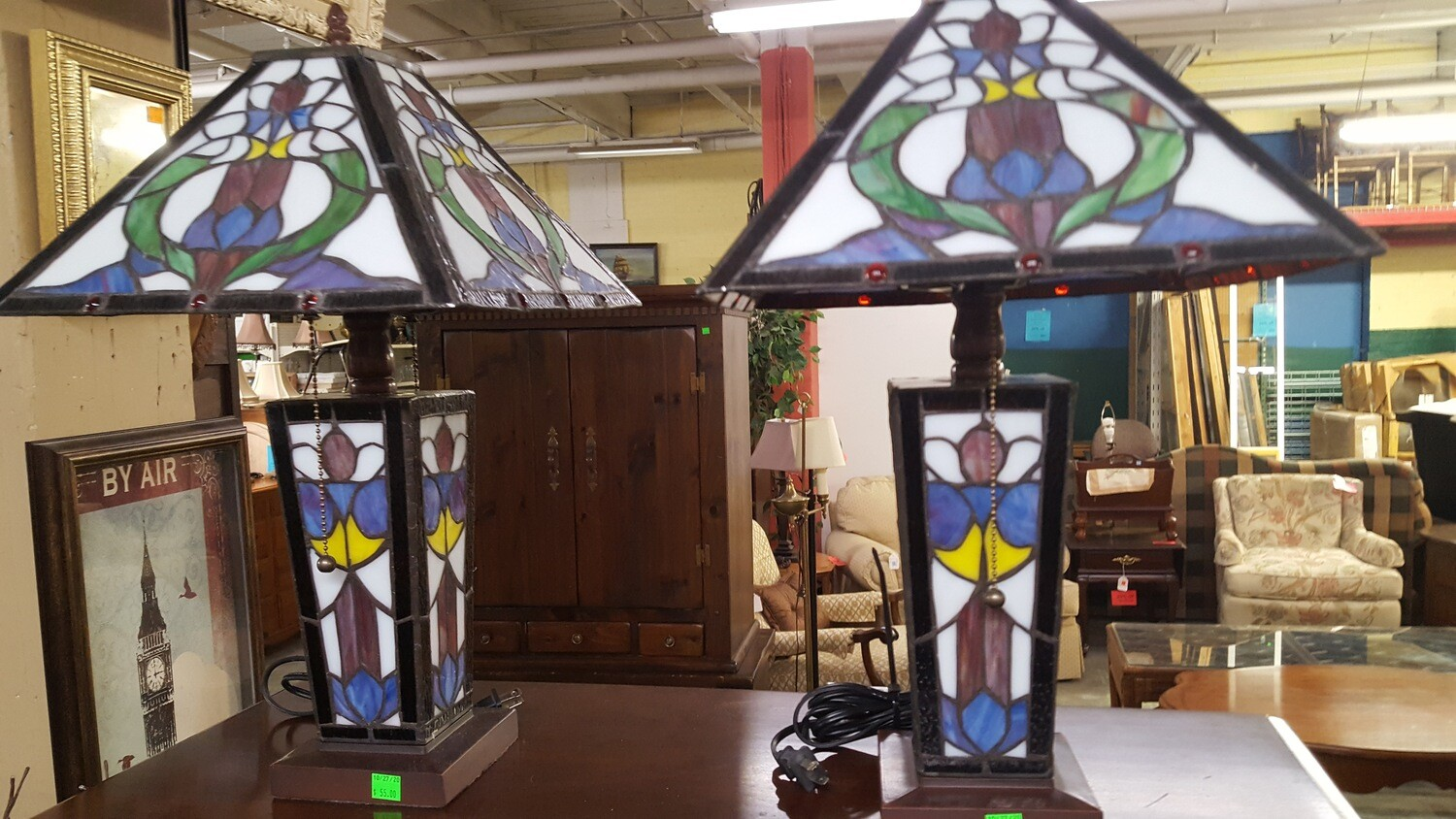 Stained Glass Table Lamps (GR)
