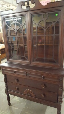 Antique China Cabinet / Hutch (GR)