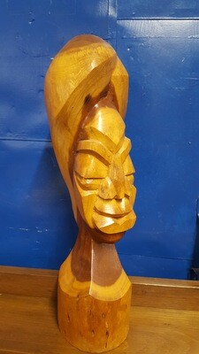 African Woman Wood Sculpture (OR)
