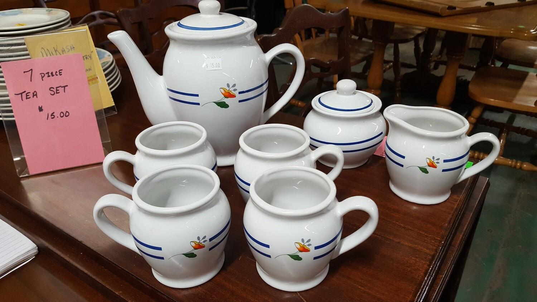 Ceramic Tea Set, 4 mugs (OR)