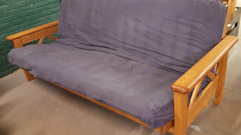 Oak Futon, Queen size mattress (OR)