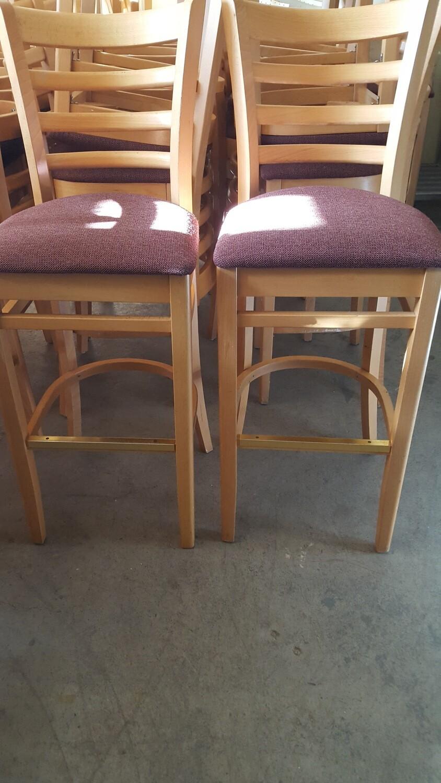Bar Stools, padded, pair (OR)