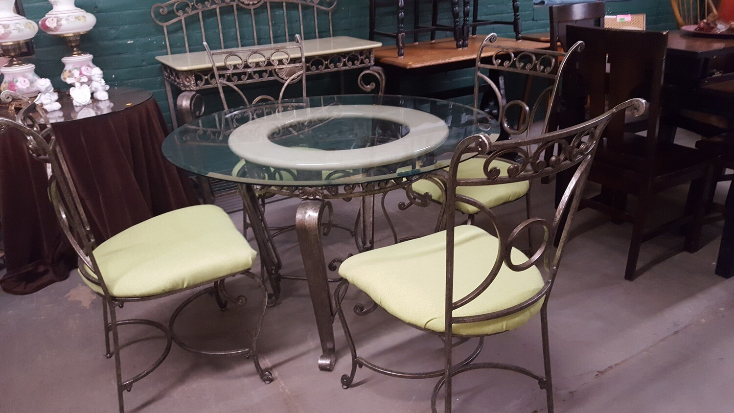 Cafe Dining Set metal & glass (p)