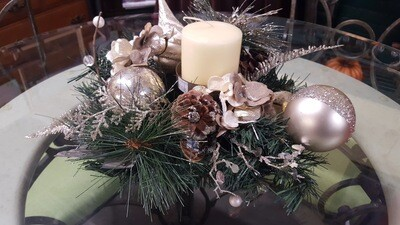 Holiday Centerpiece, silver 14