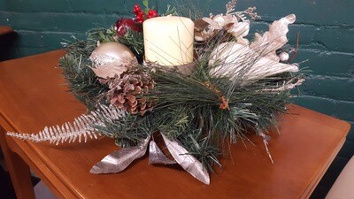 Holiday Centerpiece, silver 12