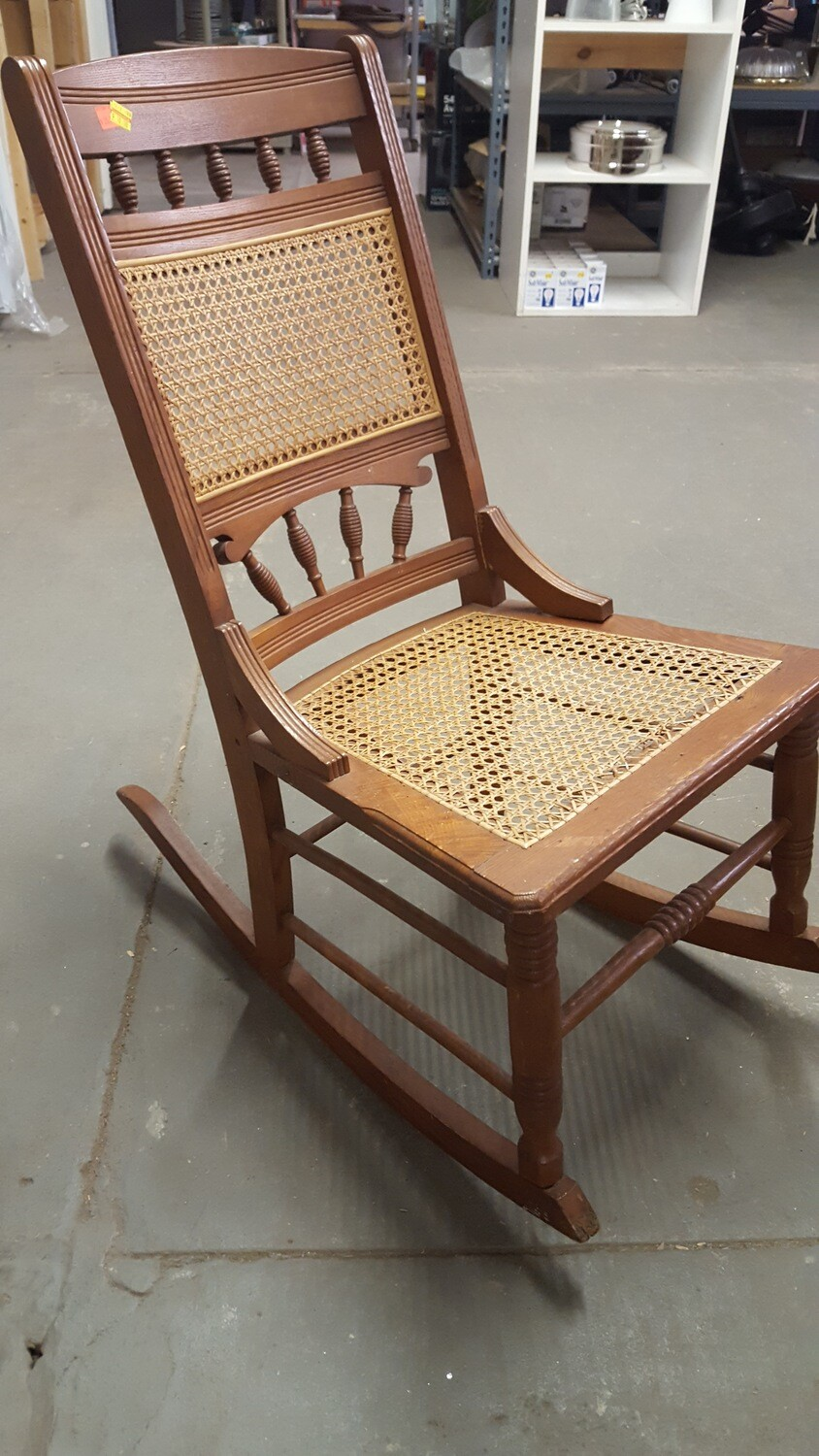 Antique Rocker, caned seat (CL)