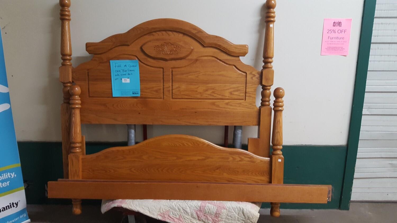 Oak Full / Queen Bed frame (P)