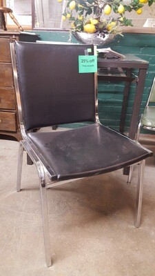 Vintage Chrome Desk Chair  (CL)