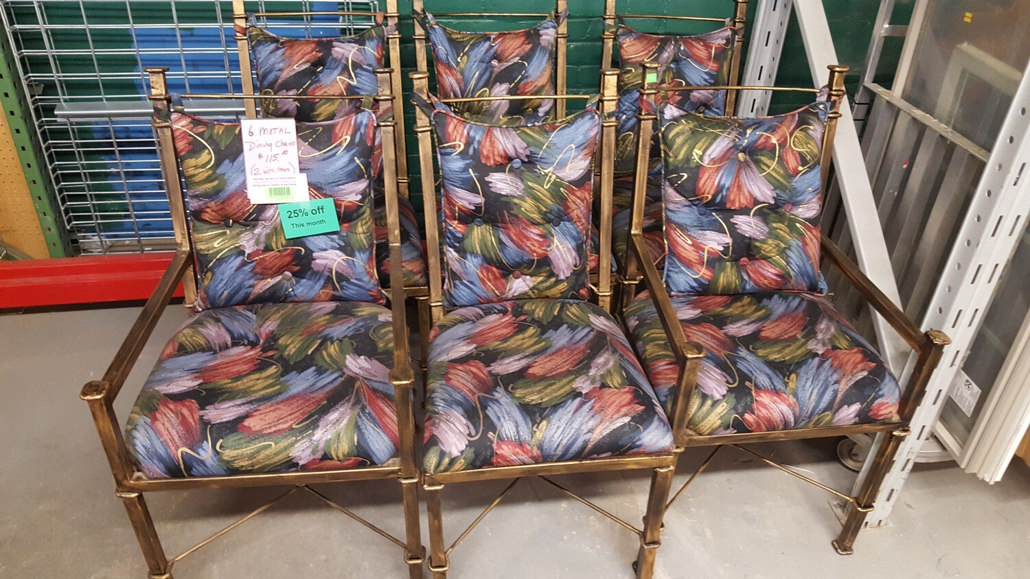 Set of 6 colorful Dining Chairs  (CL)