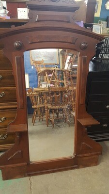 Antique Vanity Dresser and Full Bed (p)