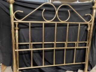 Queen Bed shiny brass Q1200 (p)