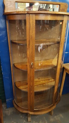 Oak Curio Cabinet (p)