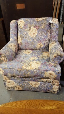 Blue Floral Chair (b)