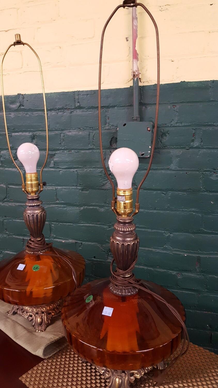 Vintage Table Lamps, pair (B)