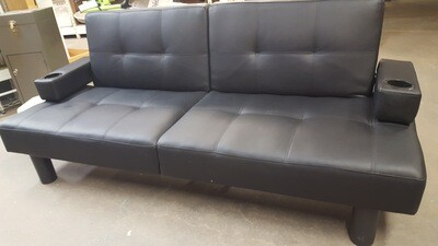 Reclining Futon, black (b)