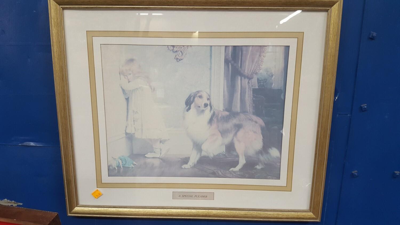 Dog with Girl print (B)