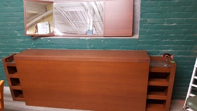 Free-standing Queen Headboard, tables (B)