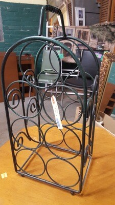 Metal Wine Rack, green/black (B)