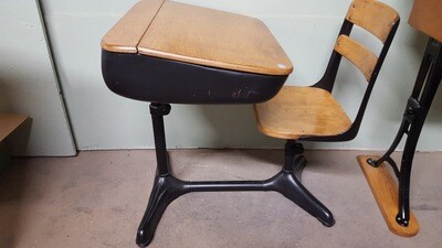Reproduction School Desk /Chair (B)