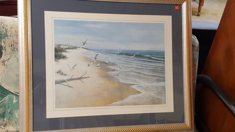 Framed Print: T.C. Chiu, beach (B)