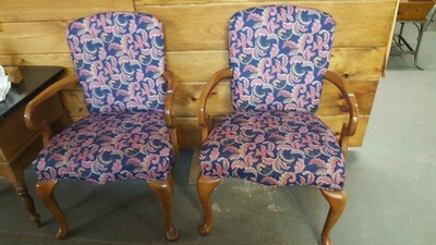 Arm Chair, reupholstered (B)