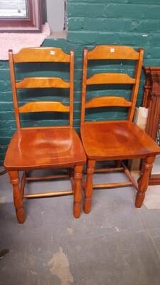 Vintage Wood Chairs, pair (B)