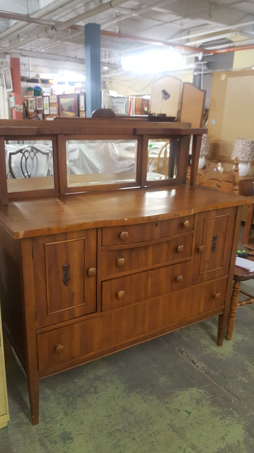 Vintage Sideboard with mirror (g)