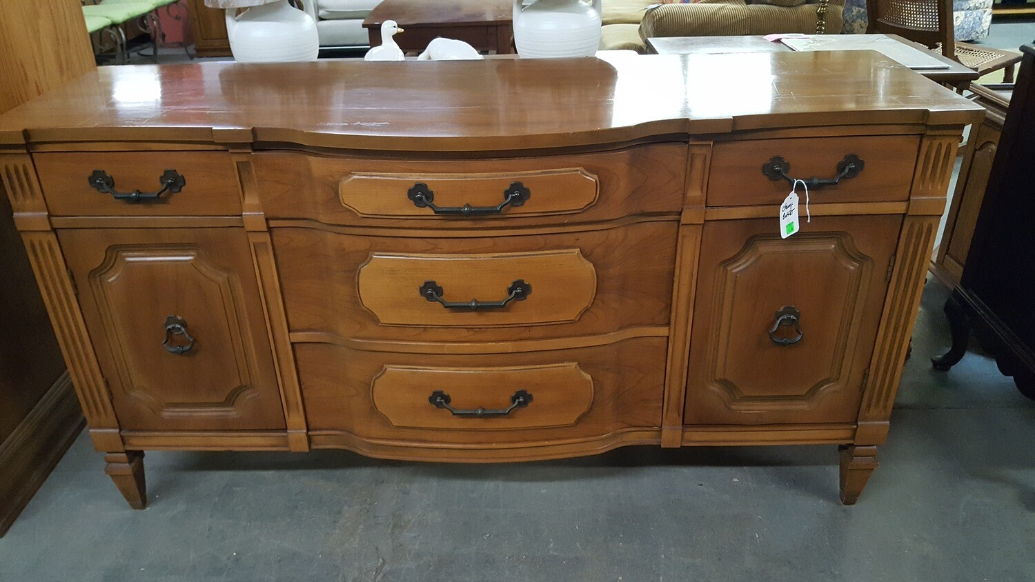 Vintage Bow-front Buffet (g)