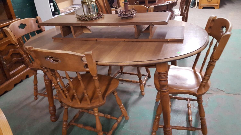 Bent & Bros. Maple Table set (g)