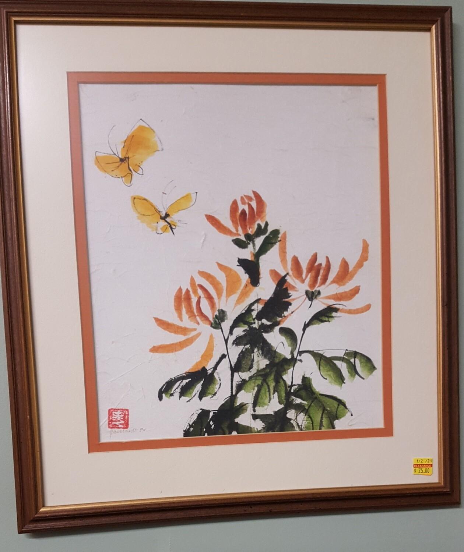 Framed Art: Butterflies (CL)