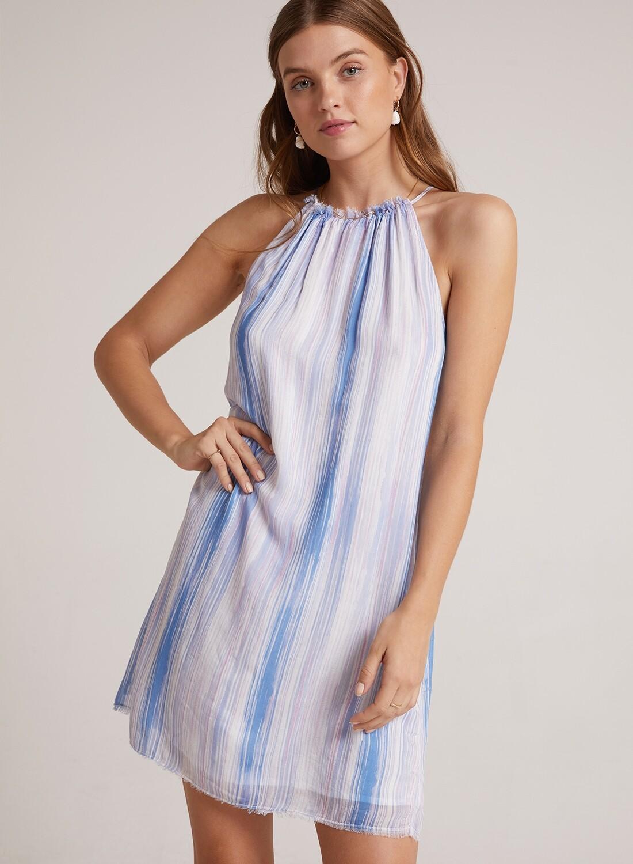 Frayed Halter Dress