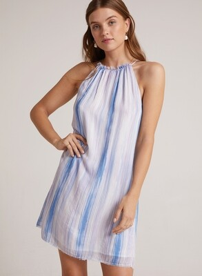 Frayed Halter Dress