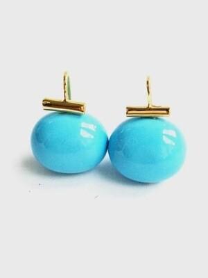 Large Pebble Pearl Earrings