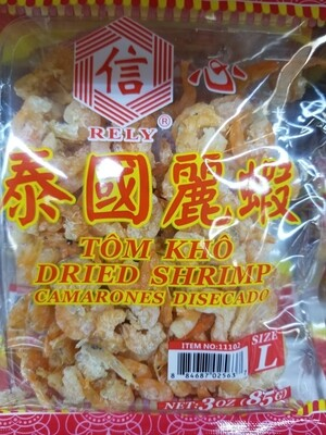 RELY DRIED SHRIMP L 信心泰國麗蝦