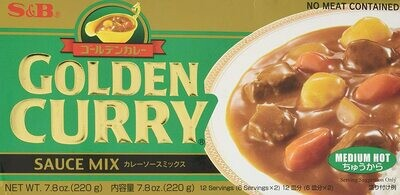 S&B GOLDEN CURRY SAUCE MIX BLOCKS MEDIUM