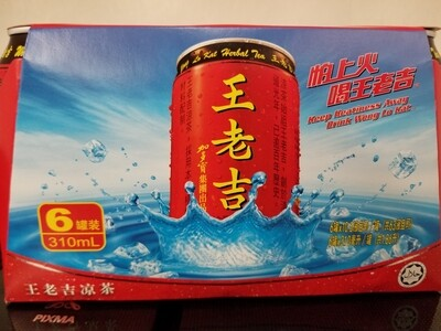 WANG LA KAT HERBAL DRINK 6PKS 王老吉涼茶