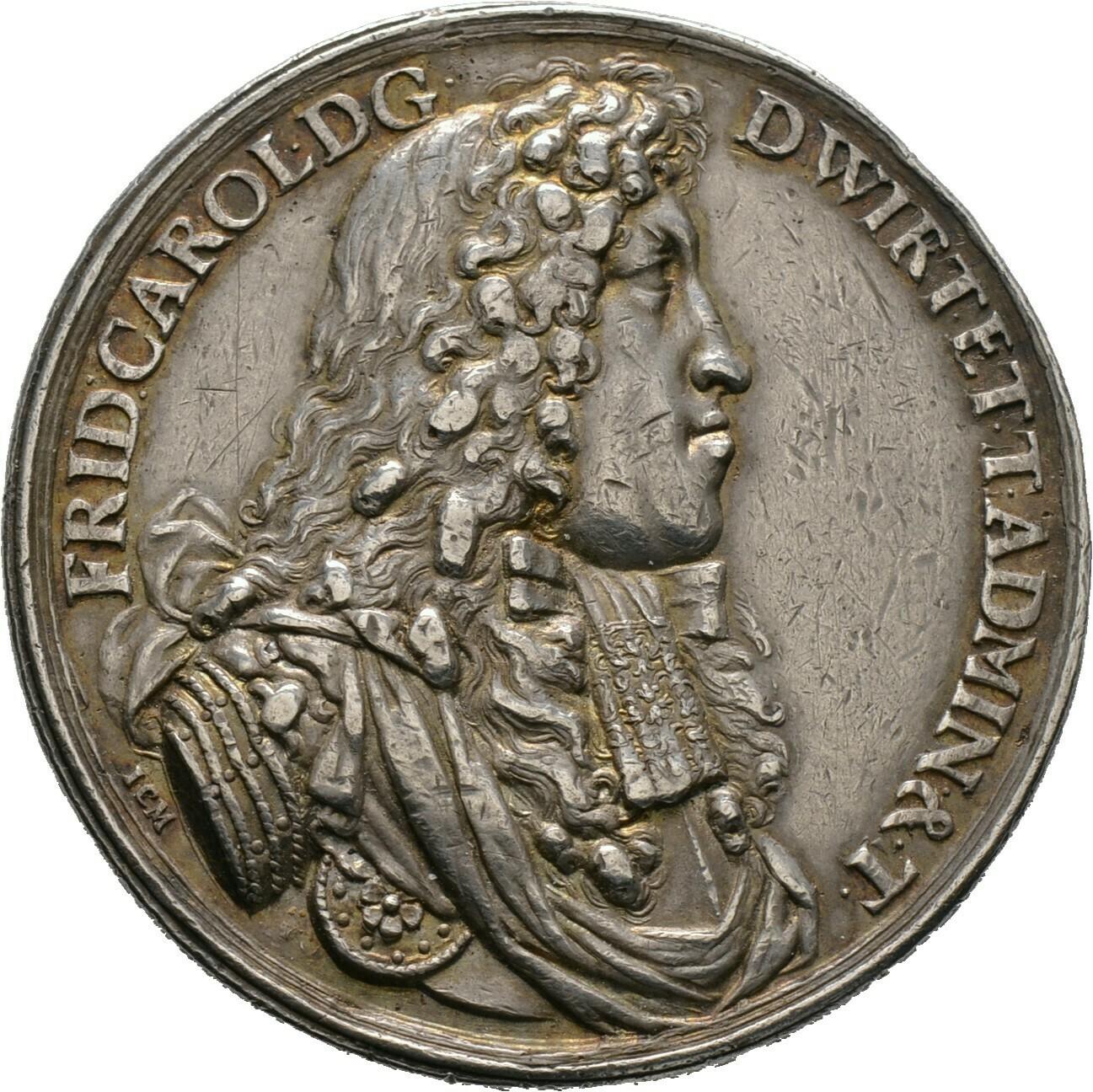 Silberne Hydramedaille o.J., Württemberg