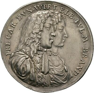 Silbermedaille 1682, Württemberg