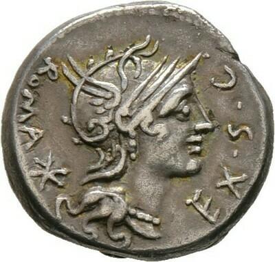 Denar, M. Sergius Silius, Römische Republik