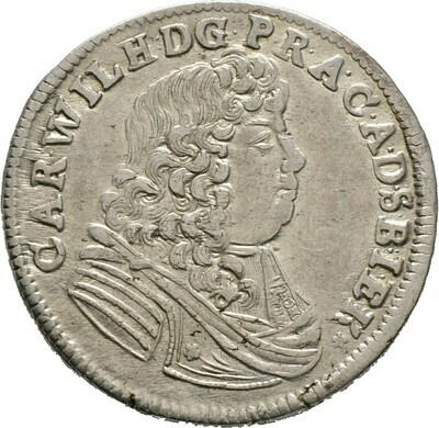 Gulden zu 2/3 Taler 1678, Carl Wilhelm, Anhalt-Zerbst