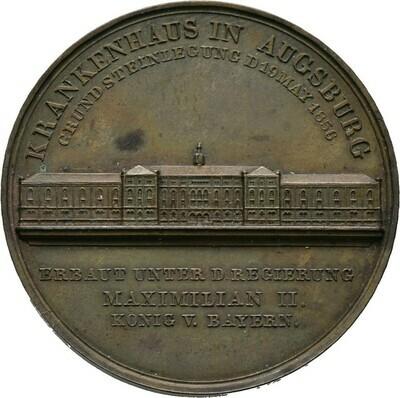 Bronzemedaille 1856, Augsburg