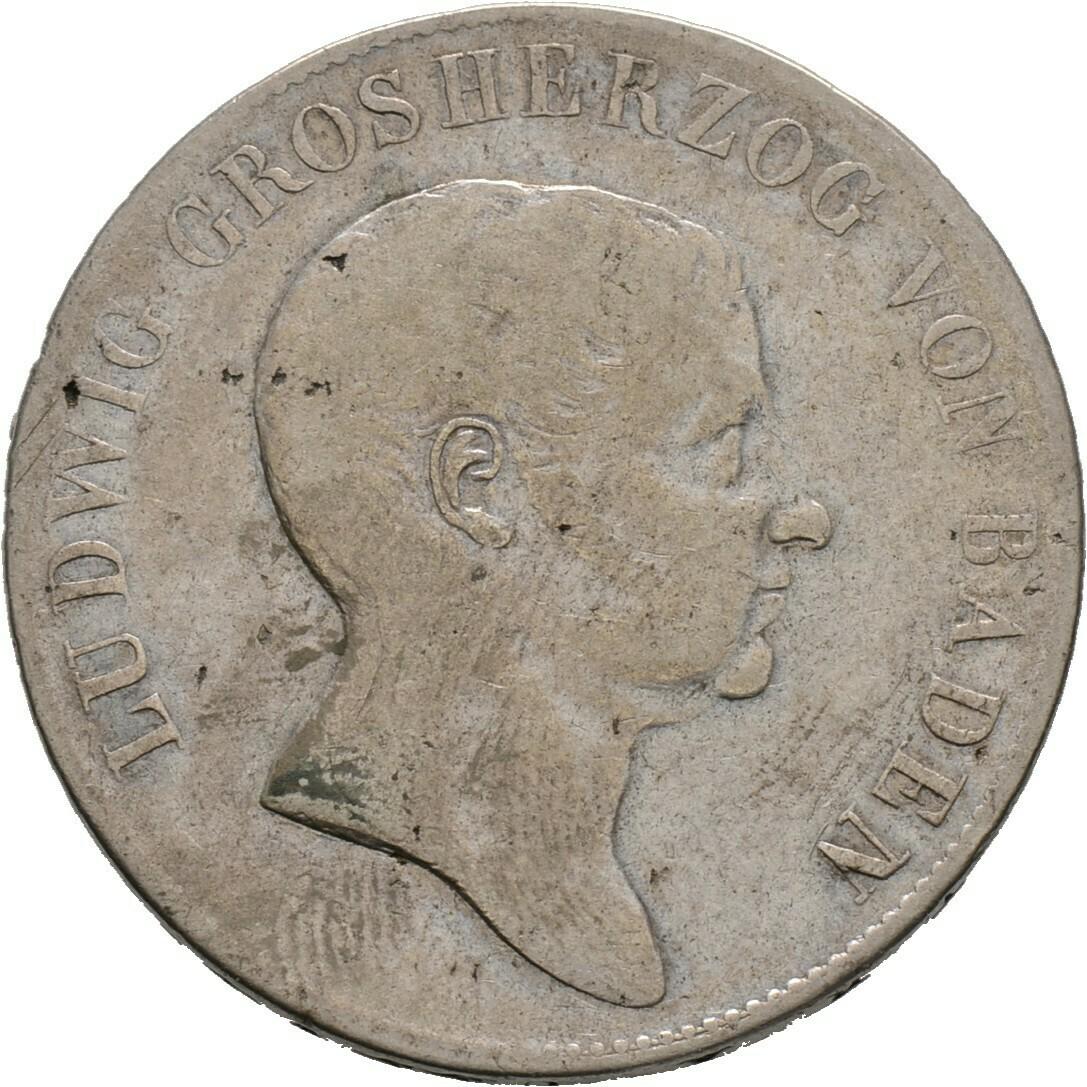 Doppelgulden 1822, Ludwig, Baden-Durlach