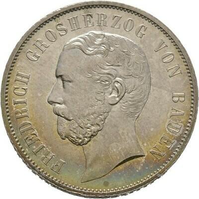 Gulden 1867, Friedrich I., Baden-Durlach