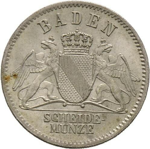 3 Kreuzer 1867, Friedrich I., Baden-Durlach