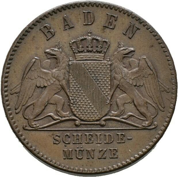 Cu-Gedenkkreuzer 1871, Friedrich I., Baden-Durlach